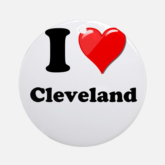 I Heart Love Cleveland.png Ornament (Round)