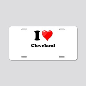 I Heart Love Cleveland Aluminum License Plate