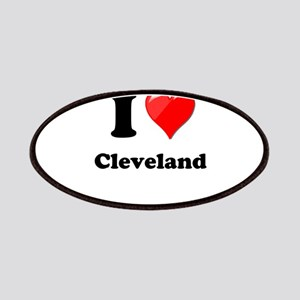 I Heart Love Cleveland Patches