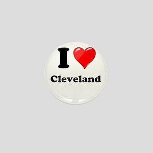 I Heart Love Cleveland Mini Button