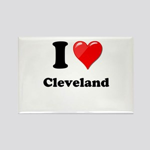 I Heart Love Cleveland Rectangle Magnet