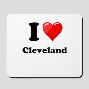 I Heart Love Cleveland Mousepad