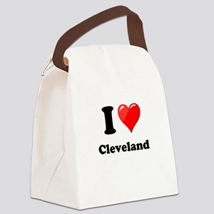 I Heart Love Cleveland Canvas Lunch Bag