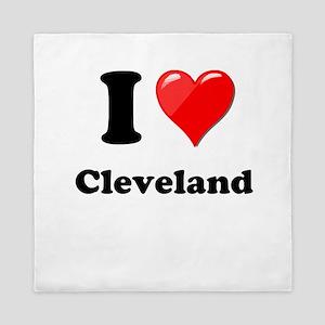 I Heart Love Cleveland Queen Duvet
