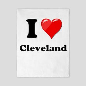 I Heart Love Cleveland Twin Duvet