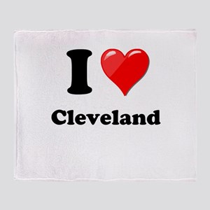 I Heart Love Cleveland Throw Blanket