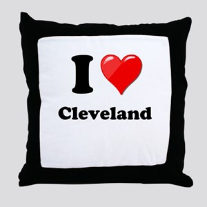 I Heart Love Cleveland Throw Pillow