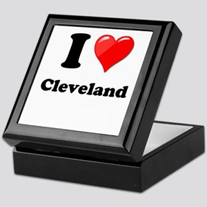 I Heart Love Cleveland Keepsake Box