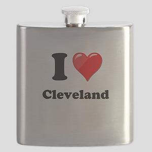 I Heart Love Cleveland Flask
