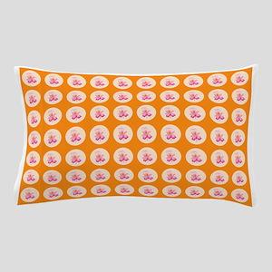 Orange Viola Circles Designer Pillow Cases