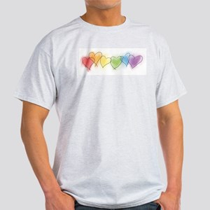 Watercolor Rainbow Hearts T-Shirt