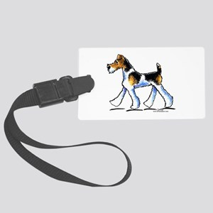 Wire Fox Terrier Trot Large Luggage Tag