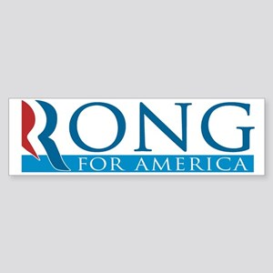 Rong for America Sticker (Bumper)