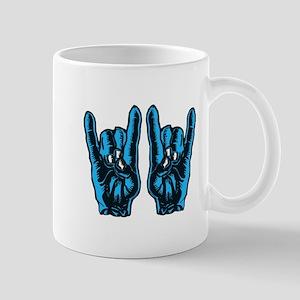 Metal Hands (Malocchio) Red Mug