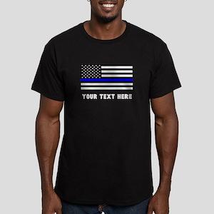 Thin Blue Line Flag Men's Fitted T-Shirt (dark)