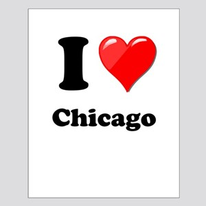 I Heart Love Chicago Small Poster
