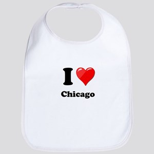 I Heart Love Chicago Bib