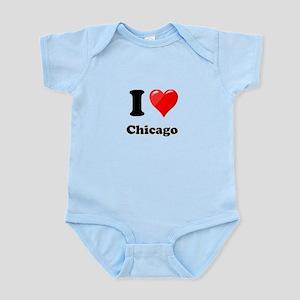 I Heart Love Chicago Infant Bodysuit