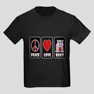 Peace Love Bert Kids Dark T-Shirt