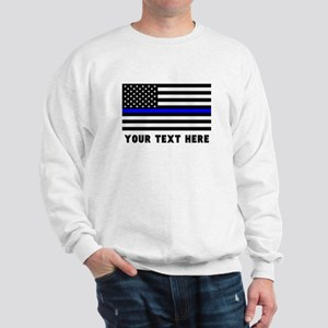 Thin Blue Line Flag Sweatshirt