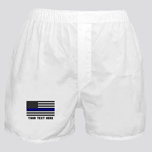 Thin Blue Line Flag Boxer Shorts