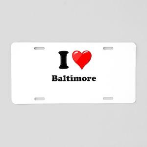 I Heart Love Baltimore Aluminum License Plate