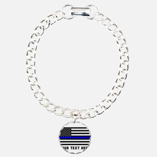 Thin Blue Line Flag Bracelet