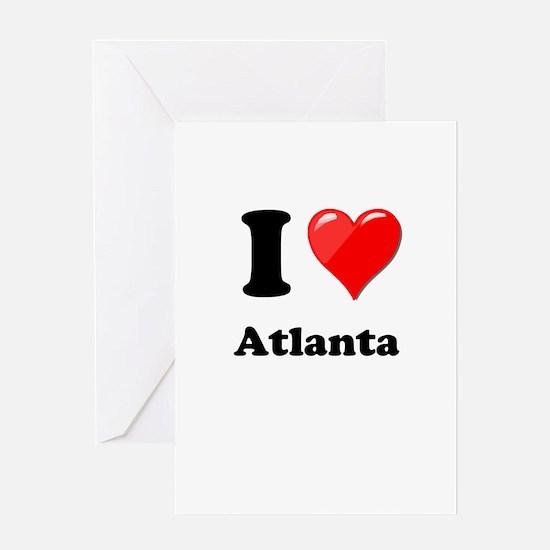 I Heart Love Atlanta.png Greeting Card