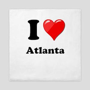 I Heart Love Atlanta Queen Duvet