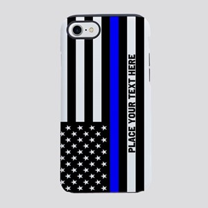 Thin Blue Line Flag iPhone 7 Tough Case