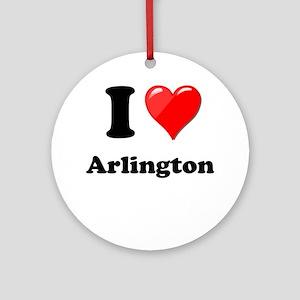I Heart Love Arlington Ornament (Round)