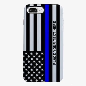 Thin Blue Line Flag iPhone 7 Plus Tough Case
