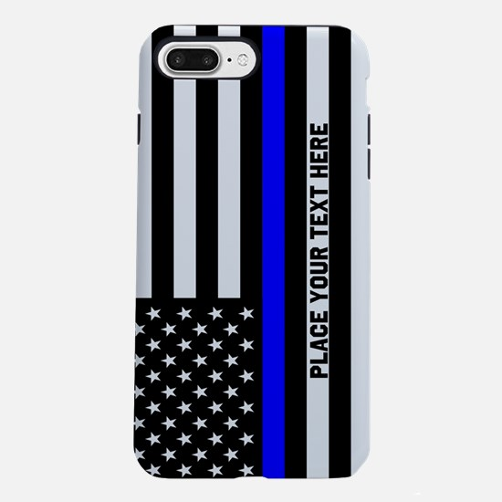 Thin Blue Line Flag iPhone 7 Plus Tough Case