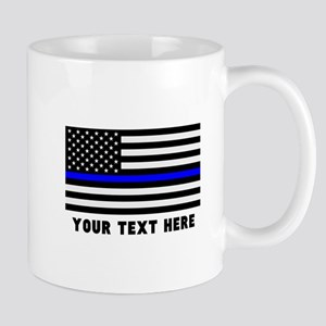 Thin Blue Line Flag 11 oz Ceramic Mug