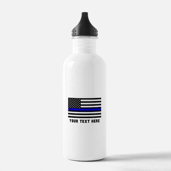 Thin Blue Line Flag Water Bottle