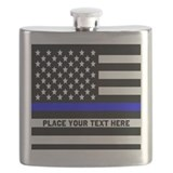 Thin blue line Flask Bottles