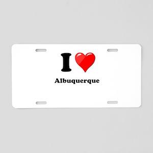I Heart Love Alburquerque Aluminum License Pla