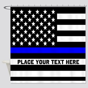 Thin Blue Line Flag Shower Curtain