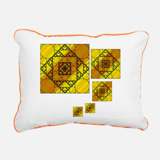 Fractal Geometry Rectangular Canvas Pillow