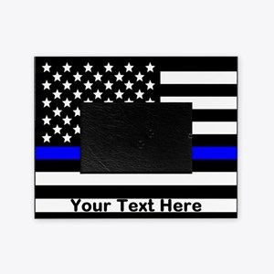 Thin Blue Line Flag Picture Frame