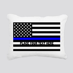 Thin Blue Line Flag Rectangular Canvas Pillow
