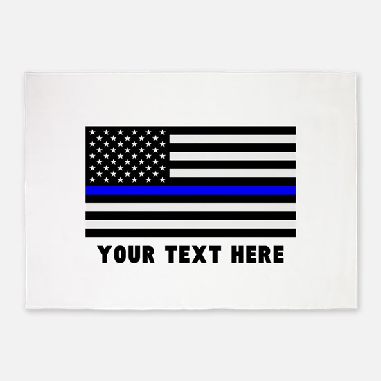 Thin Blue Line Flag 5'x7'Area Rug
