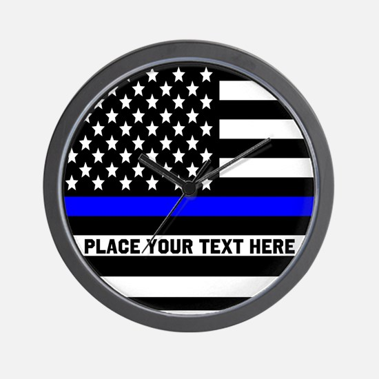 Thin Blue Line Flag Wall Clock