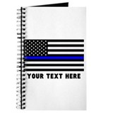 Thin blue line pucture frames Journals & Spiral Notebooks