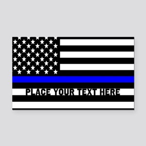 Thin Blue Line Flag Rectangle Car Magnet