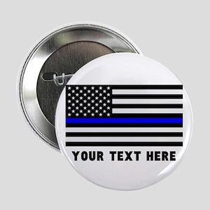 """Thin Blue Line Flag 2.25"""" Button"""
