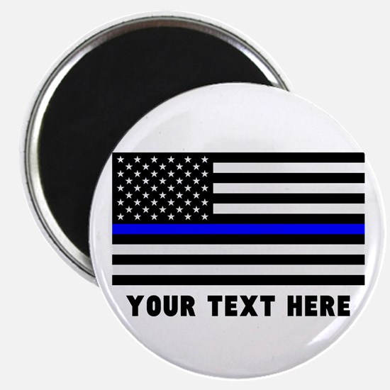 "Thin Blue Line Flag 2.25"" Magnet (10 pack)"