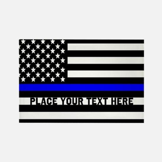 Thin Blue Line Flag Rectangle Magnet