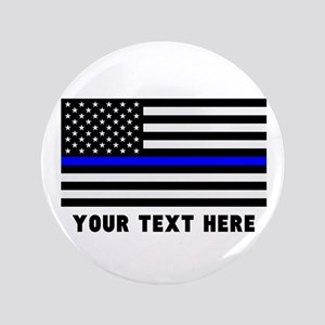 Thin Blue Line Flag Button