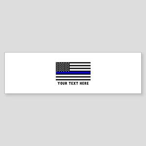 Thin Blue Line Flag Sticker (Bumper)